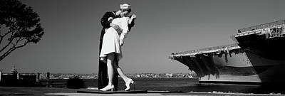 Uss Midway Photograph - The Kiss Between A Sailor And A Nurse by Panoramic Images