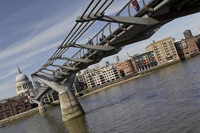 The Millennium Bridge Art Print
