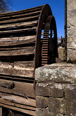 The Old Water Wheel And Flour-mill Art Print