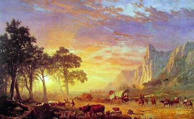 Painting - The Oregon Trail by Albert Bierstadt