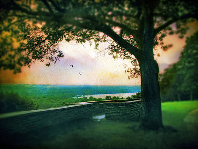 Greenery Digital Art - The Overlook by Jessica Jenney