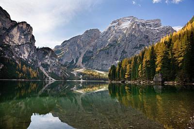 Tyrol Wall Art - Photograph - The Pragser Wildsee (lake Prags, Lago by Martin Zwick