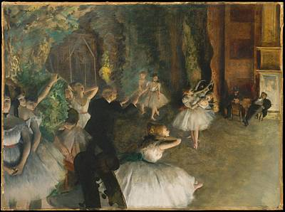 The Rehearsal Of The Ballet Onstage Art Print
