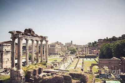 Spring Photograph - The Roman Forum Rome Italy by Matteo Colombo