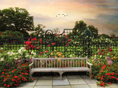 The Rose Garden Art Print by Jessica Jenney