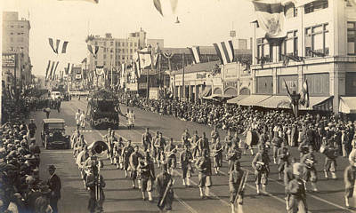 Marching Band Photograph - The Rose Parade 1926 by Unknown