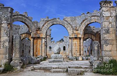 The Ruins Of The Church Of St Simeon Syria Art Print by Robert Preston