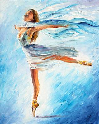 Abstract Realism Painting - The Sky Dance by Leonid Afremov