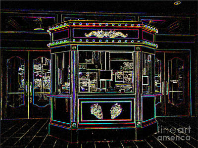The Tivoli In Neon Art Print