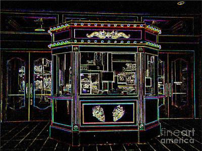 The Tivoli In Neon Art Print by Kelly Awad