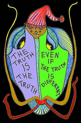 Joyful Drawing - The Truth Is The Truth... by Genia GgXpress