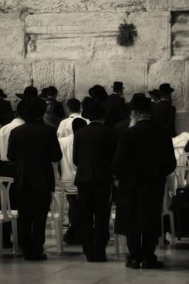 Photograph - Praying At The Wailing Wall by Doc Braham