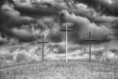 Allegheny Mountains Photograph - Three Crosses On Hill by Thomas R Fletcher