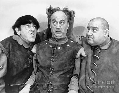 Three Stooges - Larry Moe And Curly Art Print by MMG Archive Prints