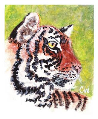 Dignified Painting - Tiger  by Caitlin  Wells