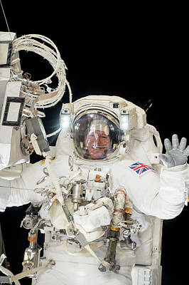 Tim Peake's Spacewalk Art Print