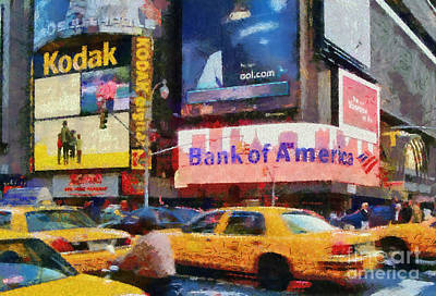 Paint Painting - Times Square by George Atsametakis