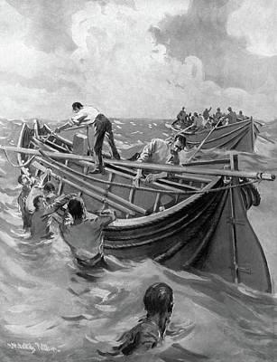 Titanic Lifeboats, 1912 Art Print by Granger
