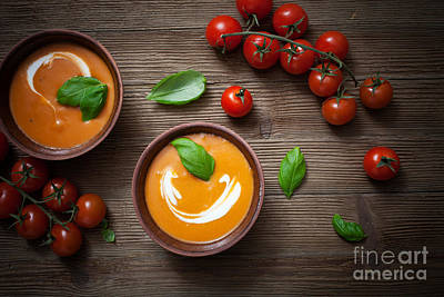 Tomato Soup Art Print by Kati Molin
