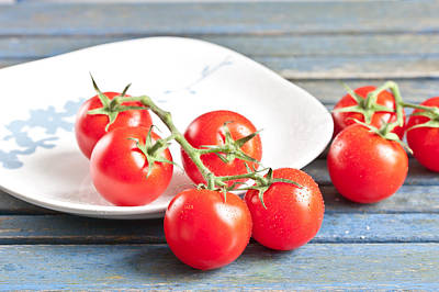 Photograph - Tomatoes by Tom Gowanlock