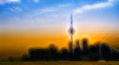 Digital Art - Toronto Skyline by Sebastian Musial