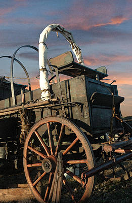 Chuck Wagon Photograph - Tough Old Wagon by Robert Anschutz