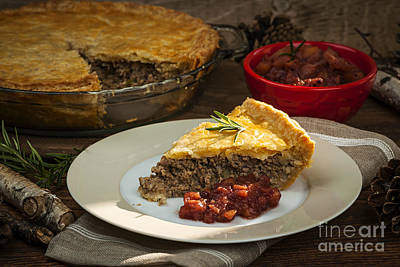 Food And Beverage Royalty-Free and Rights-Managed Images - Tourtiere meat pie by Elena Elisseeva
