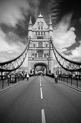 Art Print featuring the photograph Tower Bridge In London by Chevy Fleet