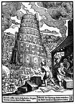 Marx Painting - Tower Of Babel by Granger