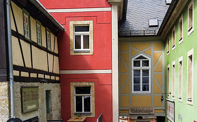 Traditional Half-timbered Buildings Art Print