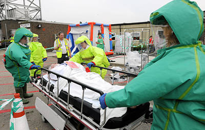 Simulated Photograph - Training Exercise For Major Emergency by Public Health England