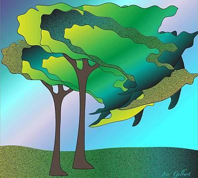 Digital Art - Tree Time by Iris Gelbart