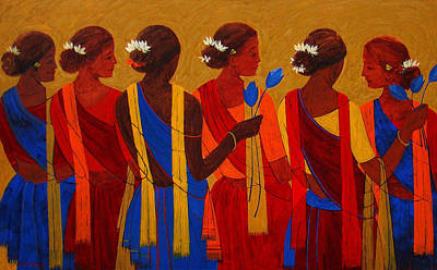 Indian Tribal Women Painting - Tribal Women by Jiaur Rahman