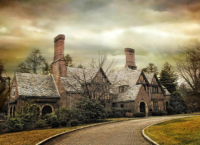 Mansion Digital Art - Tudor In Winter by Jessica Jenney