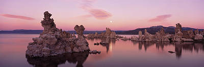 Tufa Rock Formations In A Lake, Mono Art Print by Panoramic Images