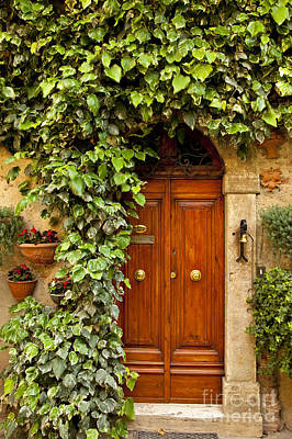 Photograph - Tuscan Door by Brian Jannsen