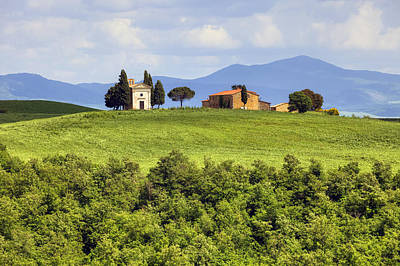 Tuscany - Cappella Di Vitaleta Print by Joana Kruse