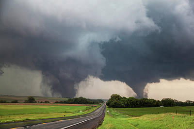 Twin Tornados Art Print by Roger Hill