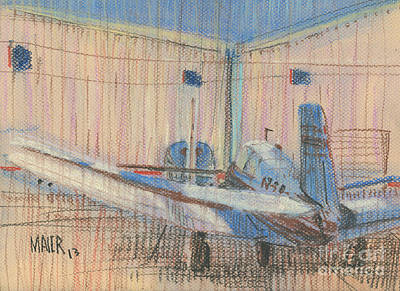 Drawing - Two Planes by Donald Maier