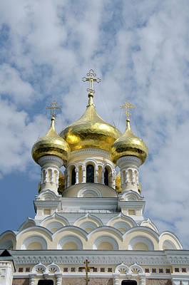 Russian Cross Photograph - Ukraine, Yalta Exterior Of Saint by Cindy Miller Hopkins