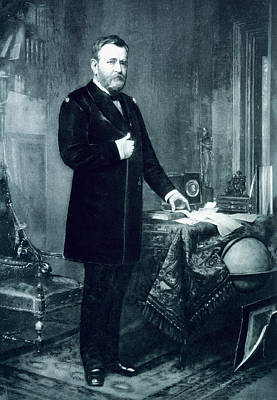 President Of The Usa Painting - Ulysses S Grant by American School