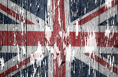 Union Jack Flag Art Print by Les Cunliffe