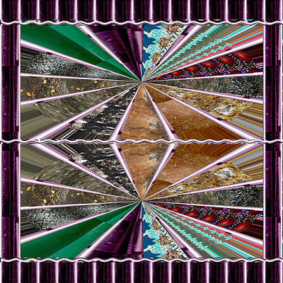 Depression Mixed Media - Unique Abstracts Using Multiple Rareearth Stones Crystals Textures And Patterns by Navin Joshi