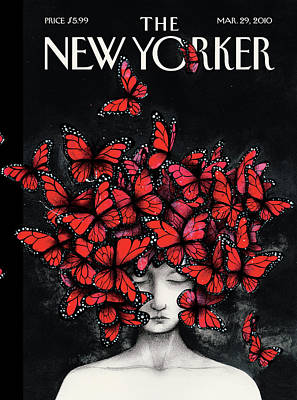 Women Painting - New Yorker March 29th, 2010 by Ana Juan