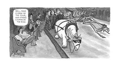 Mouse Drawing - New Yorker June 5th, 2000 by Arnold Roth