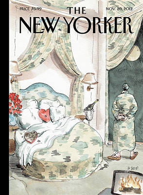Politics Painting - New Yorker November 26th, 2012 by Barry Blitt