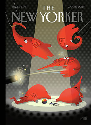 Painting - New Yorker January 16th, 2012 by Bob Staake