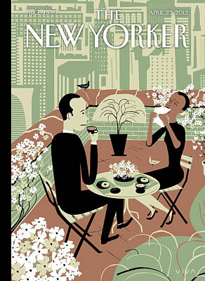 Pollen Painting - New Yorker April 23rd, 2012 by Frank Viva