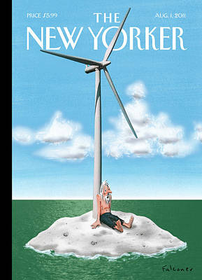 Island Painting - New Yorker August 1st, 2011 by Ian Falconer