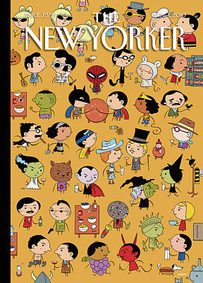 Party Painting - New Yorker November 1st 2010 by Ivan Brunetti